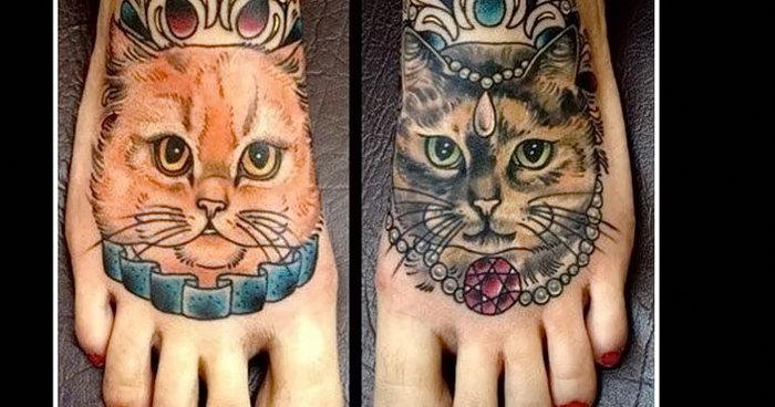 фото тату кошка от 19.11.2017 №061 - cat tattoo - tattoo-photo.ru
