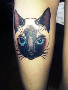 фото тату кошка от 19.11.2017 №062 - cat tattoo - tattoo-photo.ru