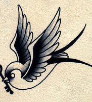 фото тату ласточка от 18.11.2017 №017 — tattoo swallow — tattoo-photo.ru