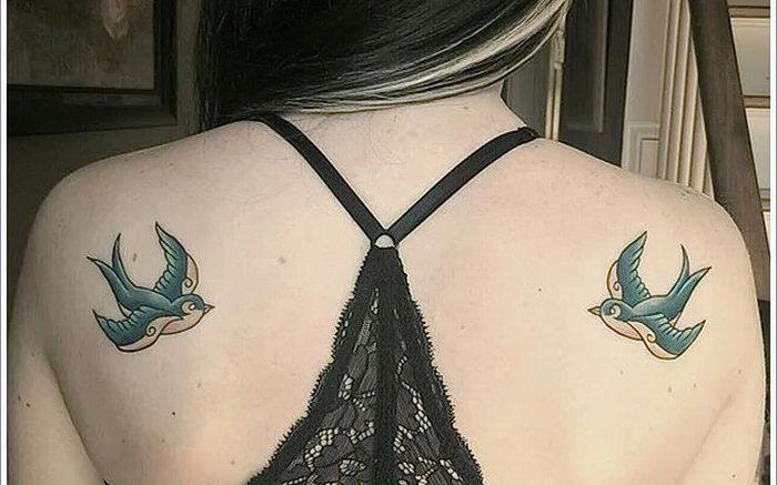 фото тату ласточка от 18.11.2017 №082 - tattoo swallow - tattoo-photo.ru