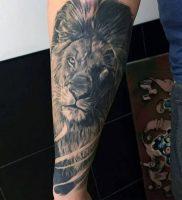 фото тату лев от 18.11.2017 №001 — tattoo lion — tattoo-photo.ru