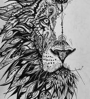 фото тату лев от 18.11.2017 №003 — tattoo lion — tattoo-photo.ru