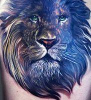 фото тату лев от 18.11.2017 №005 — tattoo lion — tattoo-photo.ru