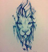 фото тату лев от 18.11.2017 №006 — tattoo lion — tattoo-photo.ru