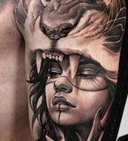 фото тату лев от 18.11.2017 №008 — tattoo lion — tattoo-photo.ru