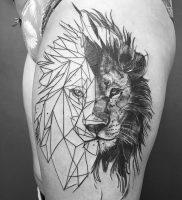 фото тату лев от 18.11.2017 №009 — tattoo lion — tattoo-photo.ru