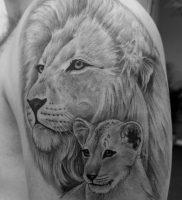 фото тату лев от 18.11.2017 №010 — tattoo lion — tattoo-photo.ru
