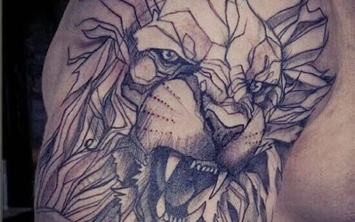 фото тату лев от 18.11.2017 №059 - tattoo lion - tattoo-photo.ru