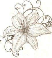 фото тату лилия от 19.11.2017 №007 — tattoo lily — tattoo-photo.ru