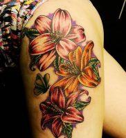 фото тату лилия от 19.11.2017 №008 — tattoo lily — tattoo-photo.ru