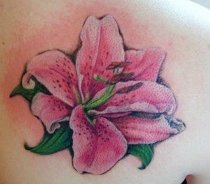 фото тату лилия от 19.11.2017 №033 - tattoo lily - tattoo-photo.ru