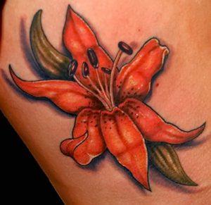 фото тату лилия от 19.11.2017 №035 - tattoo lily - tattoo-photo.ru
