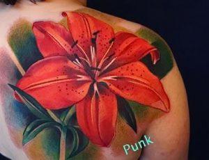 фото тату лилия от 19.11.2017 №048 - tattoo lily - tattoo-photo.ru
