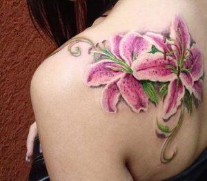 фото тату лилия от 19.11.2017 №116 - tattoo lily - tattoo-photo.ru