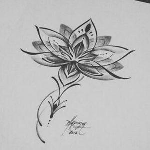 фото тату лотос от 19.11.2017 №008 - lotus tattoo - tattoo-photo.ru