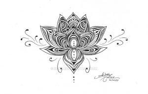 фото тату лотос от 19.11.2017 №045 - lotus tattoo - tattoo-photo.ru