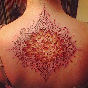 фото тату лотос от 19.11.2017 №068 - lotus tattoo - tattoo-photo.ru