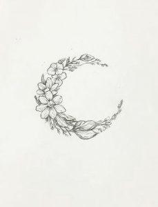 фото тату луна от 19.11.2017 №061 - tattoo moon - tattoo-photo.ru