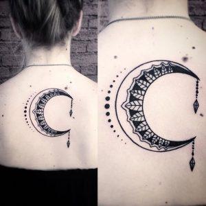 фото тату луна от 19.11.2017 №074 - tattoo moon - tattoo-photo.ru