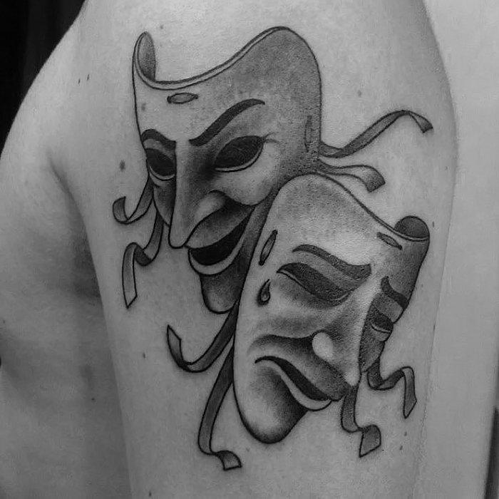 настоящее время фото театральных масок для тату обыкновенный