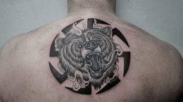 фото тату медведь от 17.11.2017 №092 - bear tattoo - tattoo-photo.ru