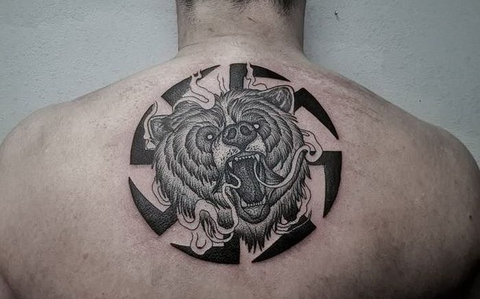 фото тату медведь от 17.11.2017 №092 - bear tattoo - tattoo-photo.ru
