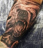 фото тату медведь от 17.11.2017 №103 — bear tattoo — tattoo-photo.ru