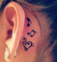 фото тату с нотами от 16.11.2017 №002 — tattoo with notes — tattoo-photo.ru