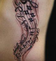фото тату с нотами от 16.11.2017 №003 — tattoo with notes — tattoo-photo.ru