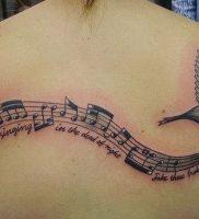 фото тату с нотами от 16.11.2017 №005 — tattoo with notes — tattoo-photo.ru