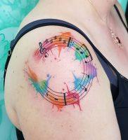 фото тату с нотами от 16.11.2017 №008 — tattoo with notes — tattoo-photo.ru