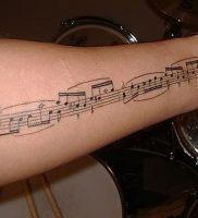 фото тату с нотами от 16.11.2017 №013 — tattoo with notes — tattoo-photo.ru