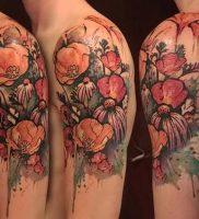 фото тату цветок Мак от 17.11.2017 №001 — tattoo flower mack — tattoo-photo.ru