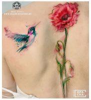 фото тату цветок Мак от 17.11.2017 №008 — tattoo flower mack — tattoo-photo.ru