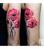 фото тату цветок Мак от 17.11.2017 №009 — tattoo flower mack — tattoo-photo.ru