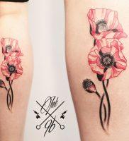 фото тату цветок Мак от 17.11.2017 №011 — tattoo flower mack — tattoo-photo.ru