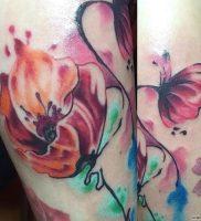 фото тату цветок Мак от 17.11.2017 №016 — tattoo flower mack — tattoo-photo.ru
