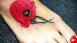 фото тату цветок Мак от 17.11.2017 №060 - tattoo flower mack - tattoo-photo.ru