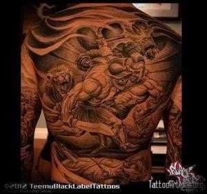 Гладиатор в татуировке для статьи про значение рисунка - 3