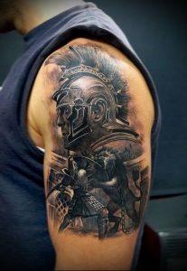 Гладиатор в татуировке для статьи про значение рисунка - 7