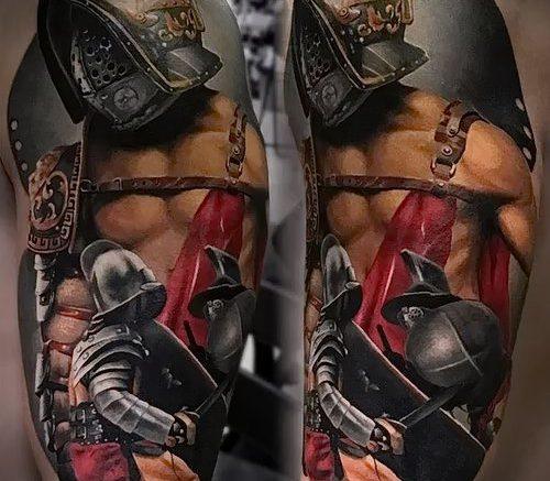 Гладиатор в татуировке для статьи про значение рисунка - 11