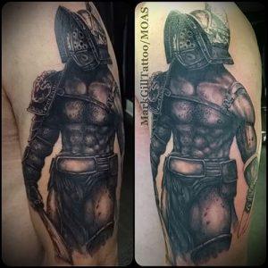 Гладиатор в татуировке для статьи про значение рисунка - 17