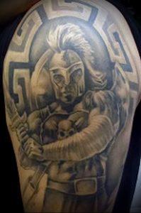 Гладиатор в татуировке для статьи про значение рисунка - 18