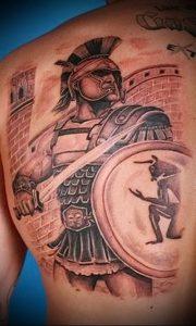 Гладиатор в татуировке для статьи про значение рисунка - 22
