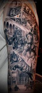 Гладиатор в татуировке для статьи про значение рисунка - 27