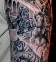 Гладиатор в татуировке для статьи про значение рисунка — 27