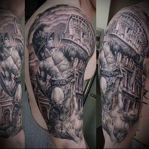 Гладиатор в татуировке для статьи про значение рисунка - 34