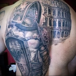 Гладиатор в татуировке для статьи про значение рисунка - 41