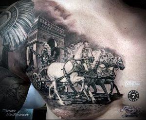 Гладиатор в татуировке для статьи про значение рисунка - 42