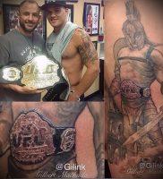 Гладиатор в татуировке для статьи про значение рисунка — 43